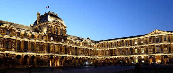 Photograph - Louvre At Night 1 by Andrew Fare