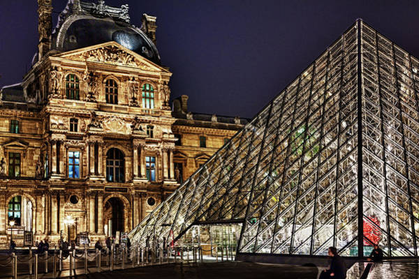 Louvre By Night I Art Print