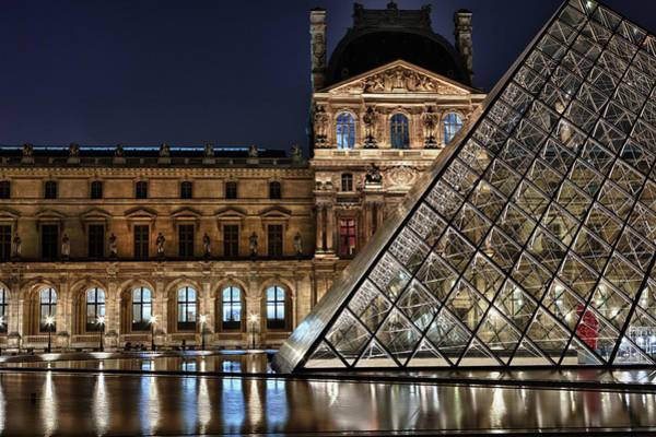 Louvre By Night II Art Print