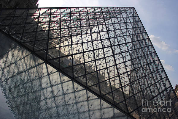 Photograph - Louvre Glass Pyramid by Wilko Van de Kamp