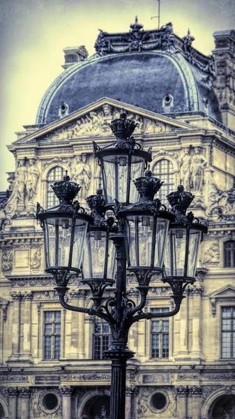 Photograph - Louvre Lamp Post by Joan Carroll