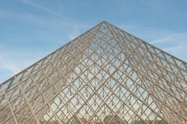 Photograph - Louvre Pyramid Paris by Helen Northcott