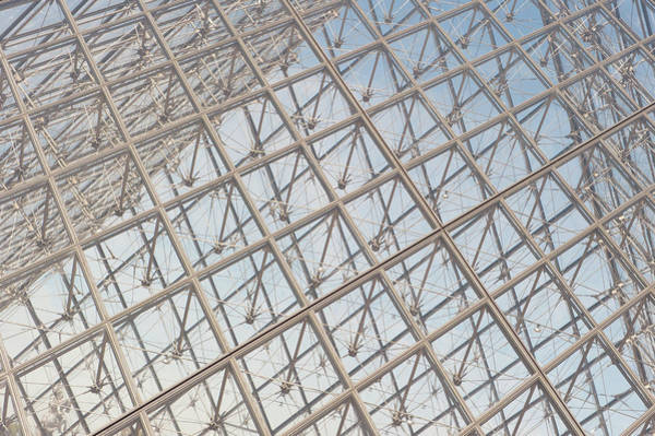 Photograph - Louvre Pyramid Paris II by Helen Northcott