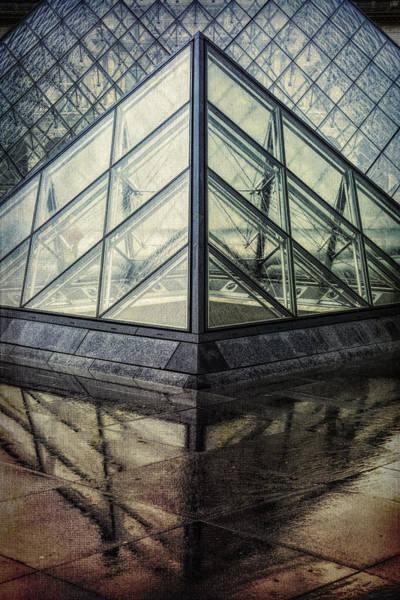 Photograph - Louvre Pyramids Paris II by Joan Carroll