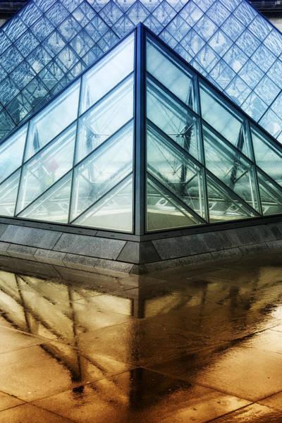 Photograph - Louvre Pyramids Paris IIi by Joan Carroll