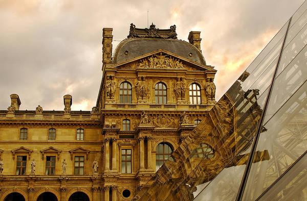 Photograph - Louvre Reflection by Mick Burkey