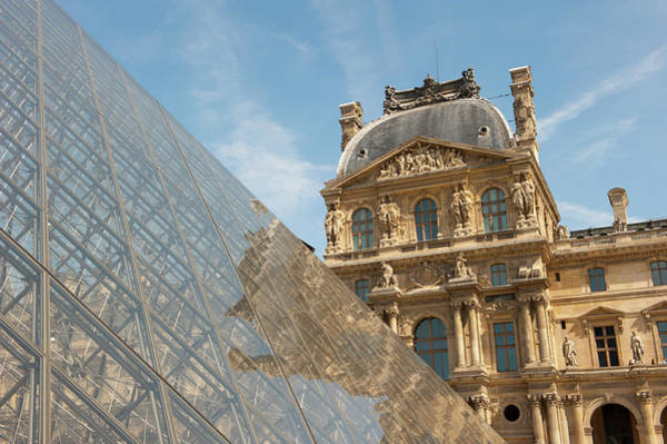 Photograph - Louvre Reflections Paris by Helen Northcott