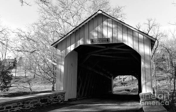 Photograph - Loux Covered Bridge Mono by John Rizzuto