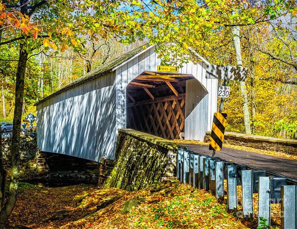 Photograph - Loux Covered Bridge by Nick Zelinsky