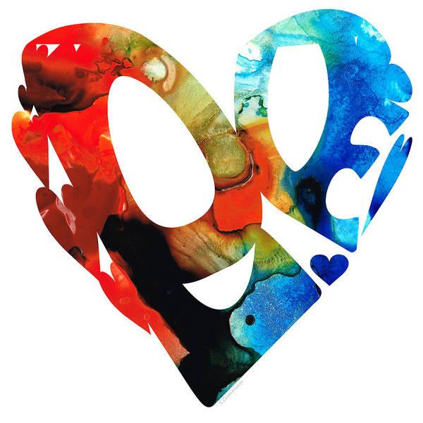 Love You Mixed Media - Love 8 - Heart Hearts Romantic Art by Sharon Cummings