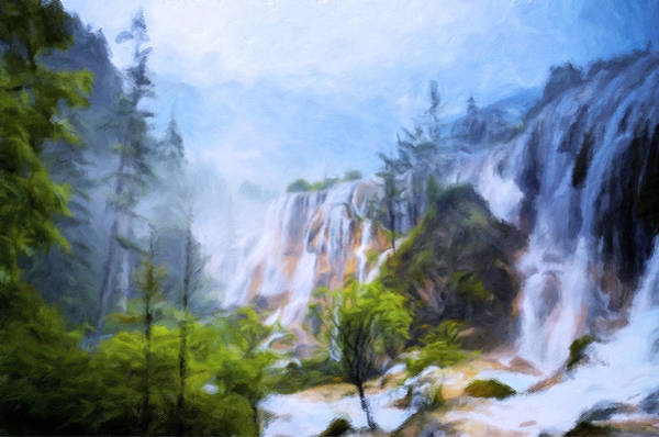 Painting - Love Affair By A Waterfall by Isabella Howard