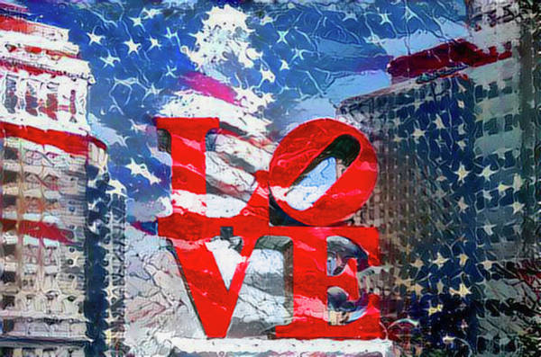 Wall Art - Photograph - Love America - Philadelphia by Bill Cannon