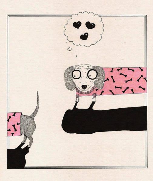 Wall Art - Drawing - Love by Anastassia Neislotova