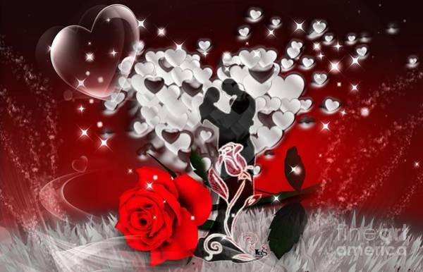 Butterfly On Flower Digital Art - Love And Flowers by LDS Dya