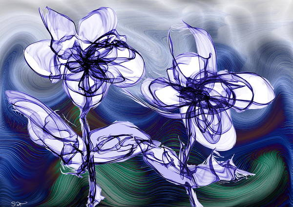 Whirlwind Digital Art - Love And Hope Through The Whirlwinds Of Life by Abstract Angel Artist Stephen K