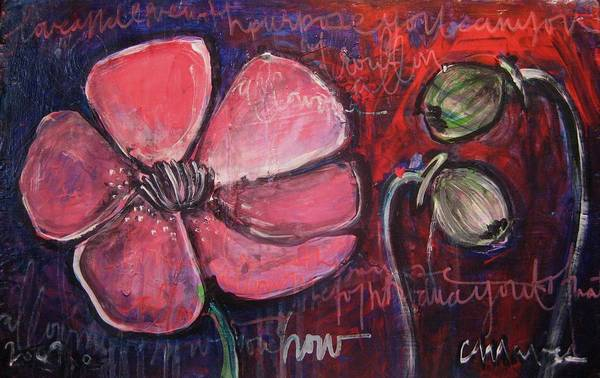 Painting - Love And Live With Purpose Poppies by Laurie Maves ART