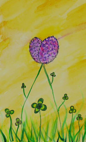 Lucky Charm Painting - Love And Luck by Stina Waters