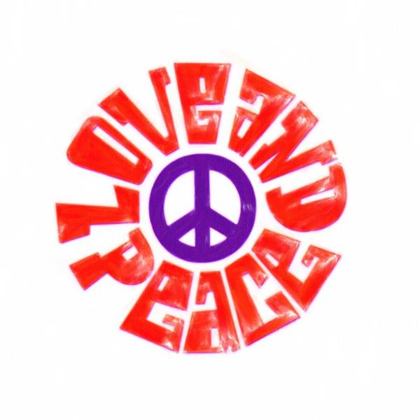 Psychedelic Image Painting - Love And Peace 14 by Celestial Images