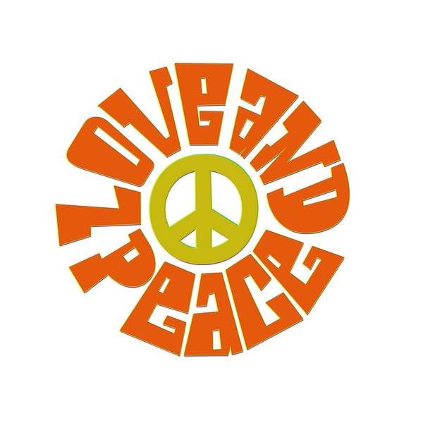 Psychedelic Image Painting - Love And Peace 7 by Celestial Images