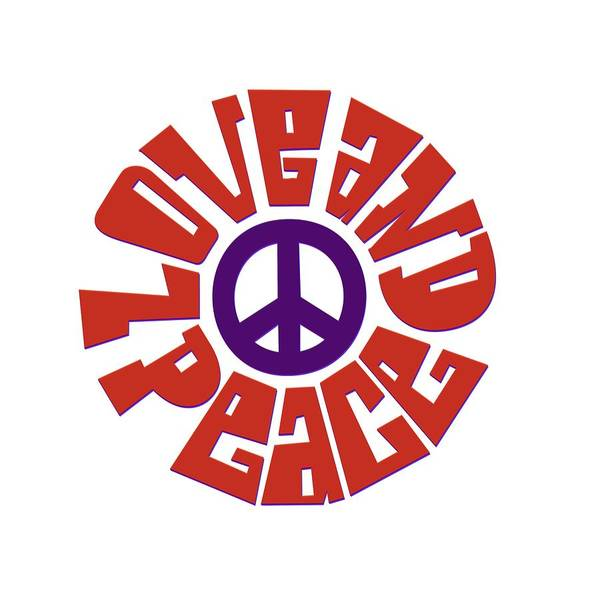 Psychedelic Image Painting - Love And Peace 9 by Celestial Images