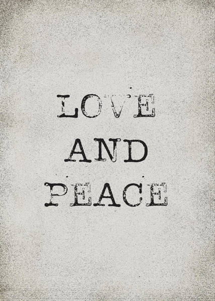Love Notes Wall Art - Digital Art - Love And Peace by Kathleen Wong