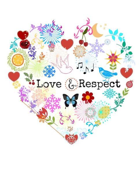Respect Digital Art - Love And Respect by Janpen Sherwood