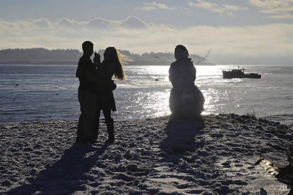 Photograph - Love And The Snowman by John Meader