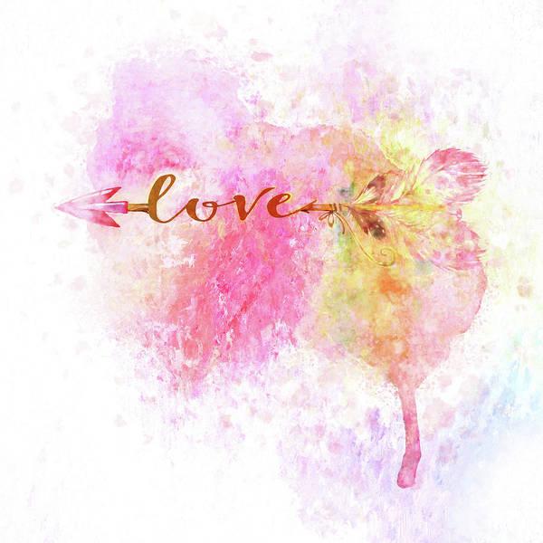 Painting - Love Arrow by Christina VanGinkel