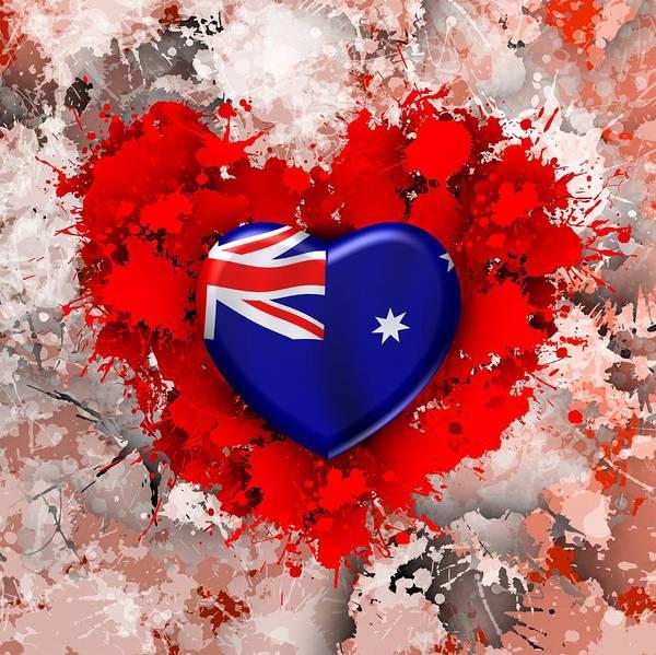 Digital Art - Love Australia 3 by Alberto RuiZ