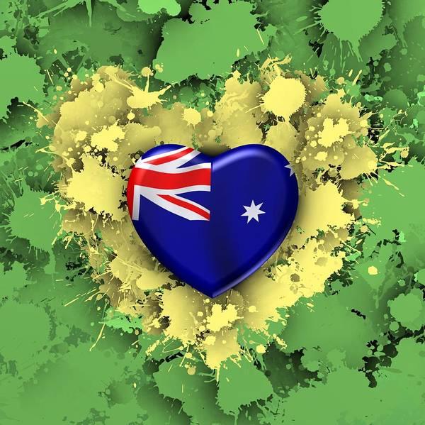 Digital Art - love Australia.1 by Alberto RuiZ