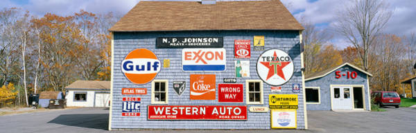 Petroleum Wall Art - Photograph - Love Barn With Road Signs, Orland, Maine by Panoramic Images