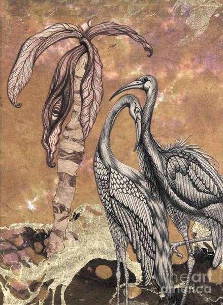 Heron Mixed Media - Love Birds by Aurora Jenson