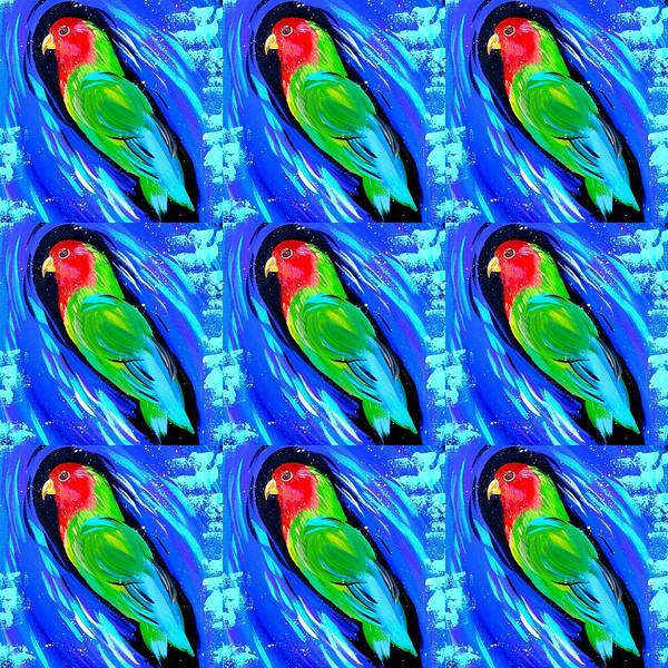 Lovebird Painting - Love Birds by Cathy Jacobs