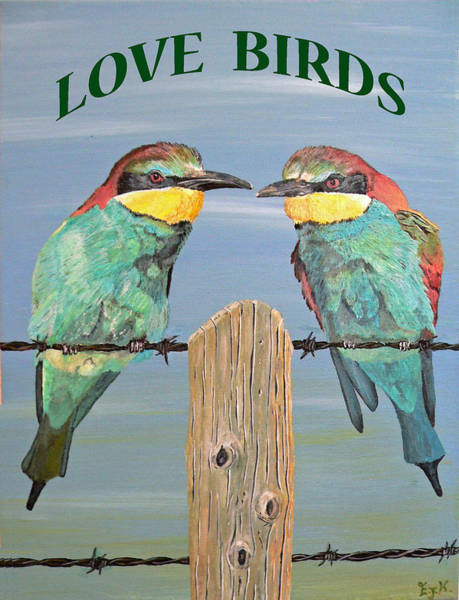 Painting - Love Birds by Eric Kempson