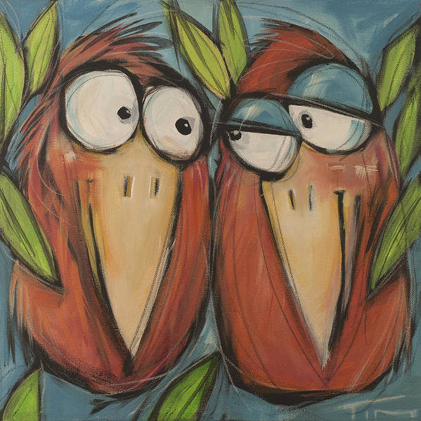 Wall Art - Painting - Love Birds  by Tim Nyberg