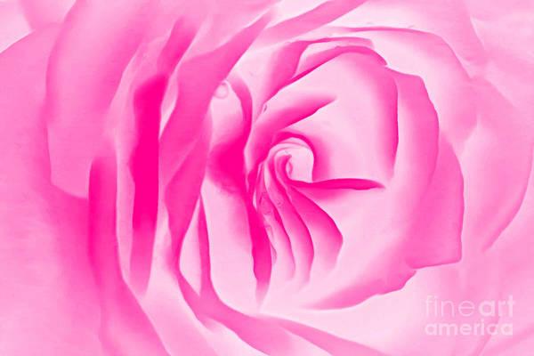 Rose Bud Digital Art - Love Blush by Krissy Katsimbras