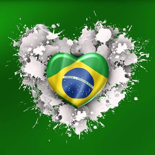 Digital Art - Love Brazil .1 by Alberto RuiZ