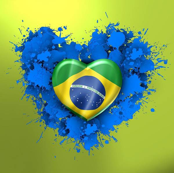 Digital Art - Love Brazil by Alberto RuiZ