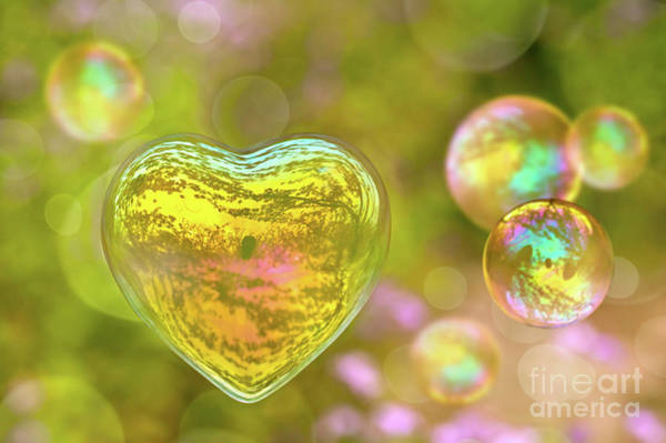 Wall Art - Photograph - Love Bubble by Delphimages Photo Creations