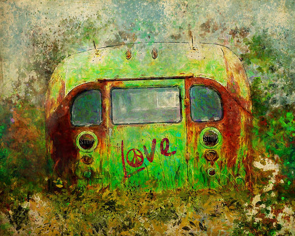 Painting - Love Bus by Christina VanGinkel