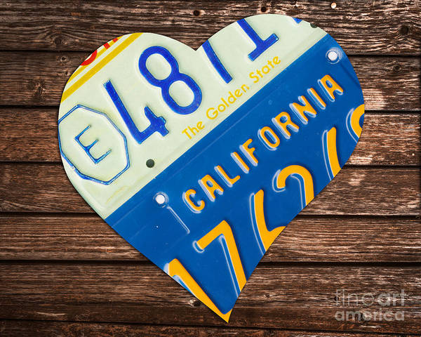 Wall Art - Photograph - Love California by Delphimages Photo Creations