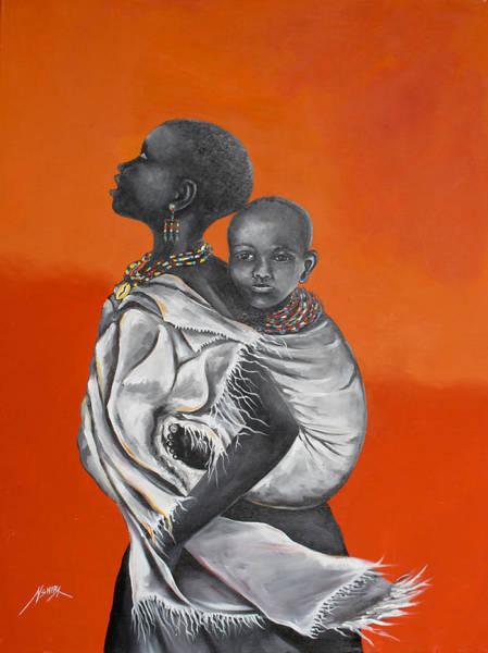 Painting - Love Carries by Daniel Akortia