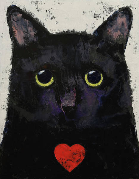 Wall Art - Painting - Love Cat by Michael Creese