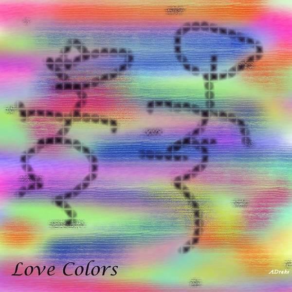 Digital Art - Love Colors by Alec Drake
