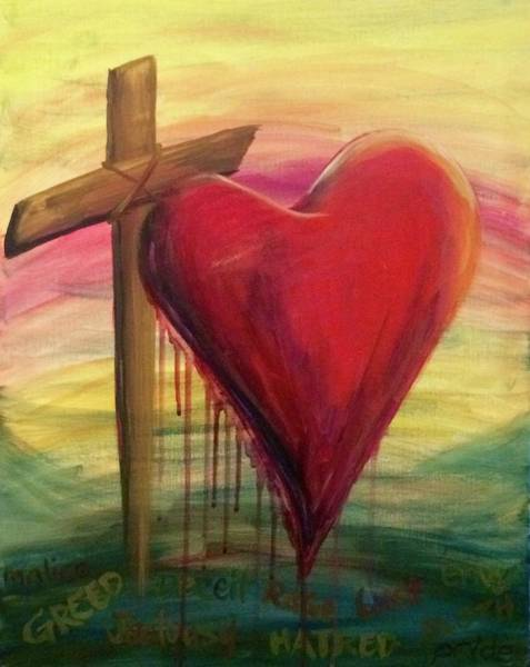 Painting - Love Covers A Multitude by Lisa DuBois