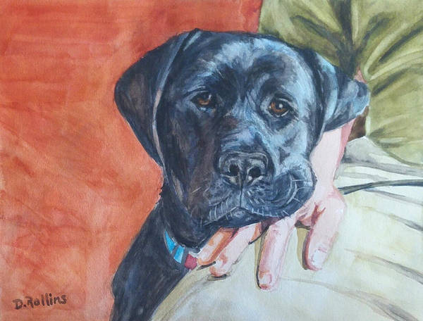Service Dog Painting - Love by Donna Rollins