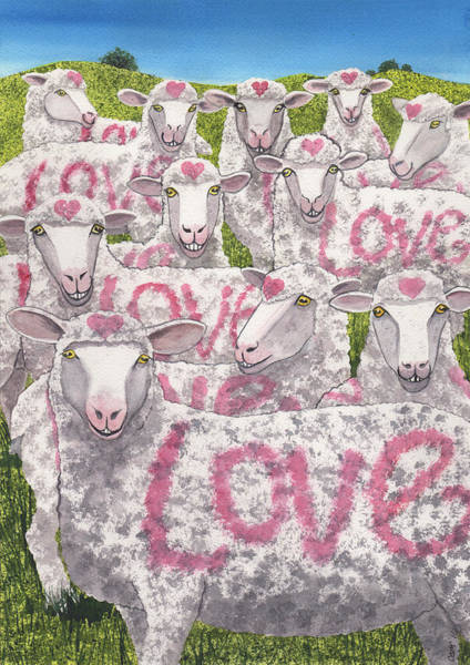 Painting - Love Ewes by Catherine G McElroy
