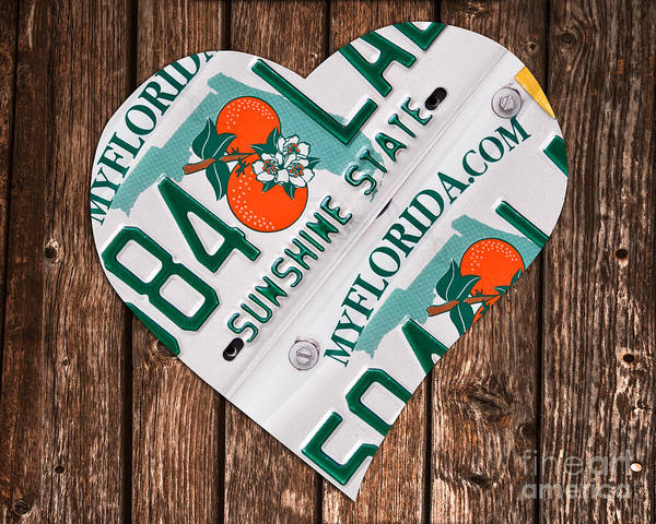 Wall Art - Photograph - Love Florida by Delphimages Photo Creations