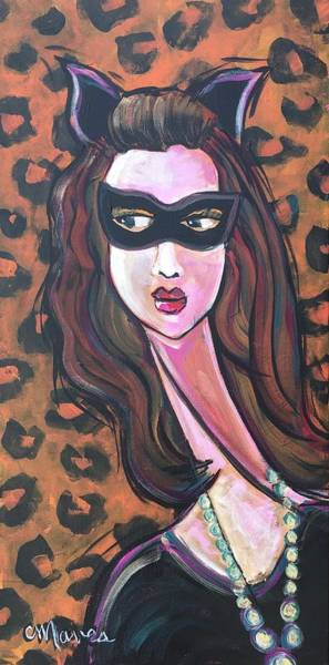 Painting - Love For Cat Woman  by Laurie Maves ART