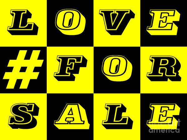 Donegal Digital Art - Love For Sale by Eddie Barron
